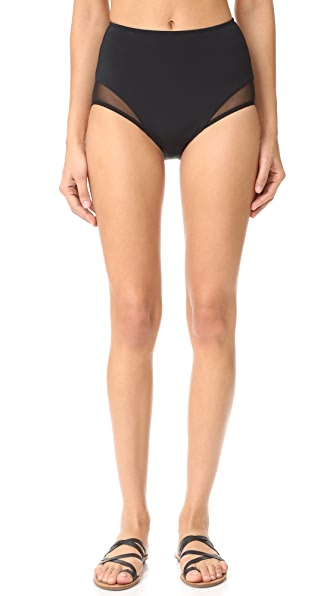 Beth Richards High Waist Mesh Bikini Bottoms