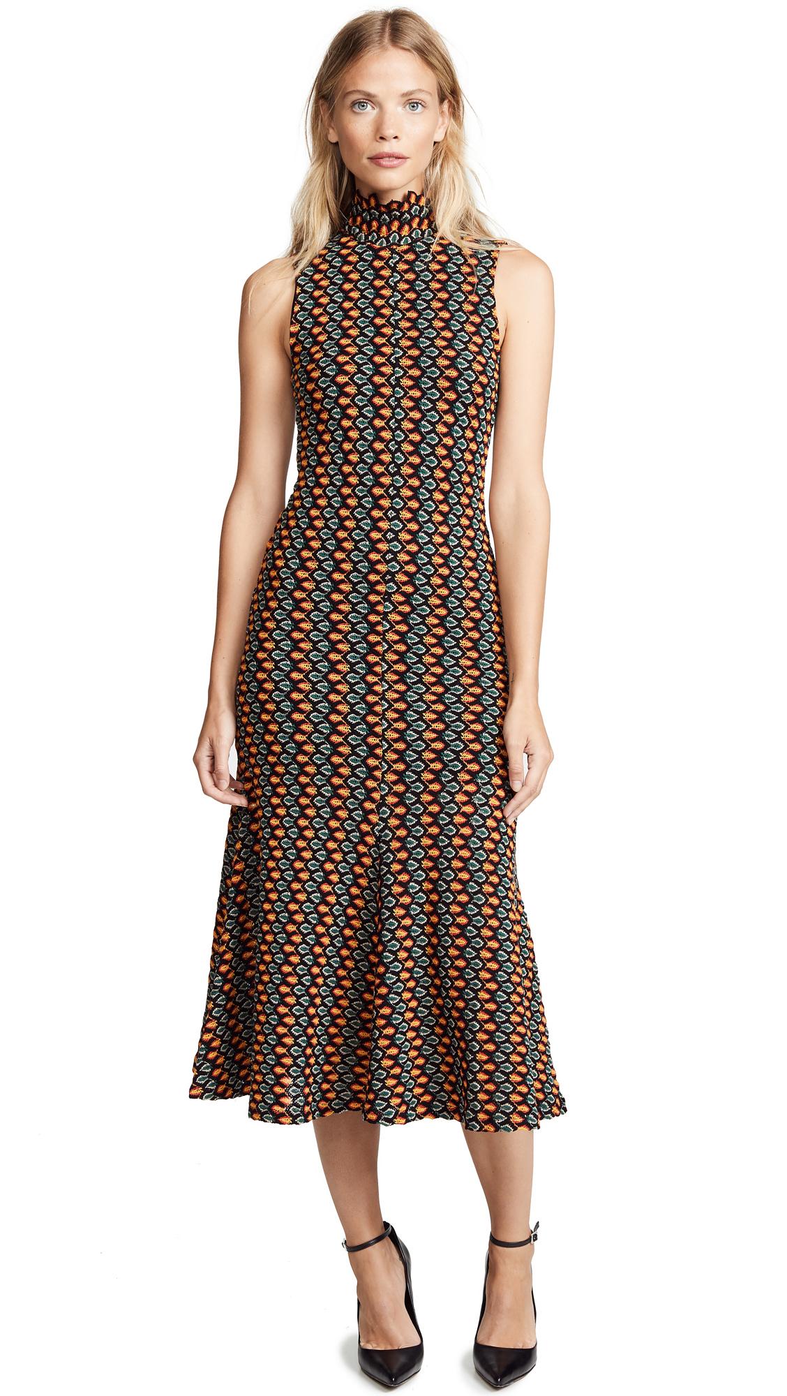 BEAUFILLE Hersilla Sleeveless Crochet Dress in Black