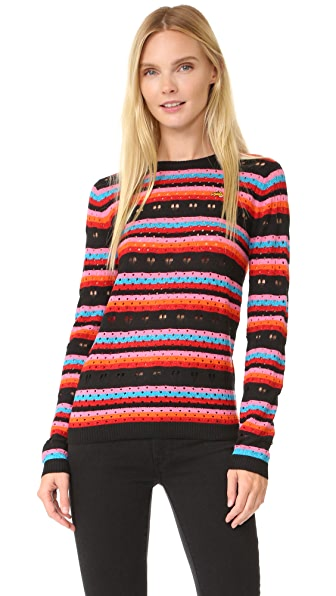 Bella Freud Rainbow Love Lace Jumper - Rainbow
