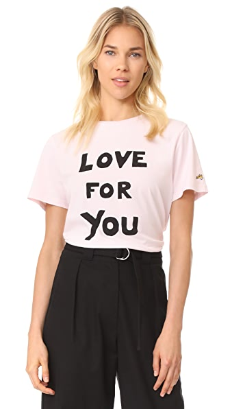 Bella Freud Love For You T-Shirt - Pale Pink