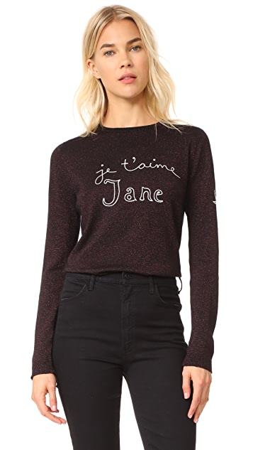 Bella Freud Je T'aime Jane Sparkle Sweater