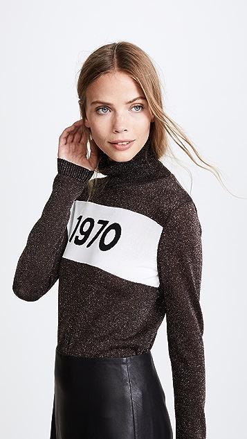 Bella Freud 1970 Polo Sparkle Sweater