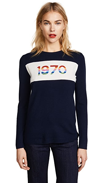 SWEATER WITH 1970 RAINBOW INTARSIA