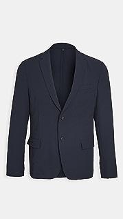BOSS Hugo Boss Navy Non Contrast Stripe Packable Sportcoat