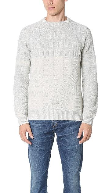 Billy Reid Hex Directional Crew Sweater
