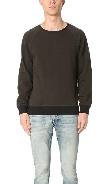 Billy Reid Dawson Reversible Crew Sweatshirt