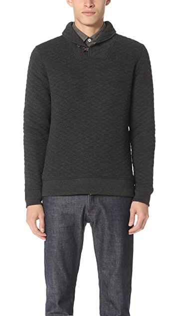 Billy Reid Diamond Shawl Sweater