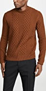 Billy Reid Heirloom Cable Crew Sweater