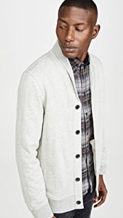 Billy Reid Cotton Cashmere Terry Cardigan