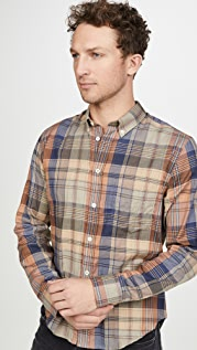 Billy Reid Kirby Plaid Button Down Shirt