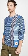 Billy Reid Indigo Plaid T-Shirt