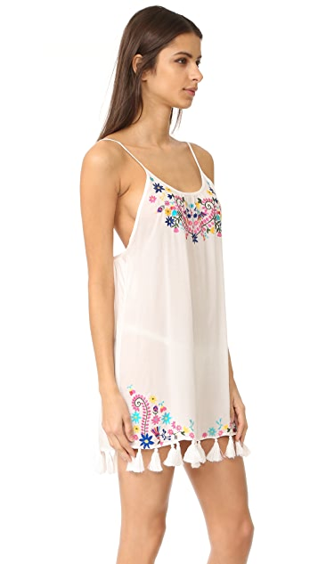 Bindya Embroidered Floral Cover Up Dress
