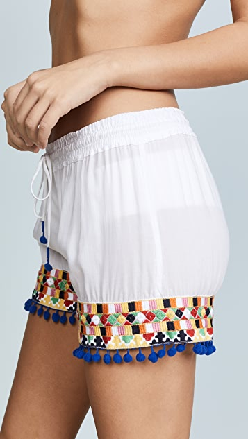 Bindya Colored Mirror Shorts