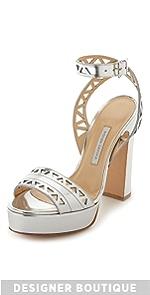 Zoe Platform Sandals                Bionda Castana