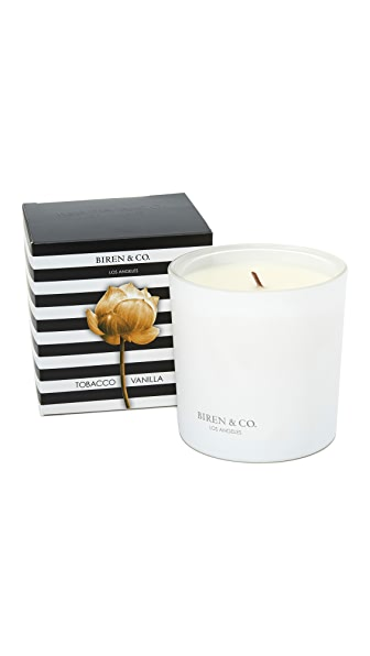 Biren & Co. Tobacco Vanilla Candle