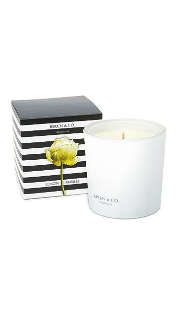 Biren & Co. Lemon Parsley Candle