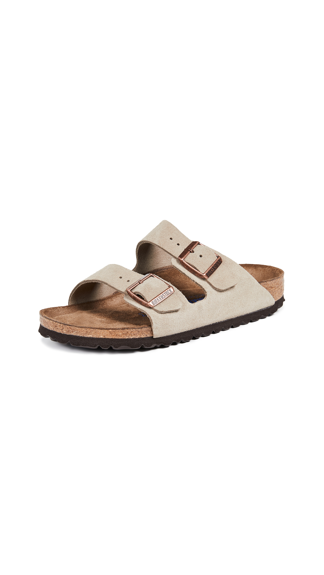 Birkenstock Arizona SFB Sandals - Taupe