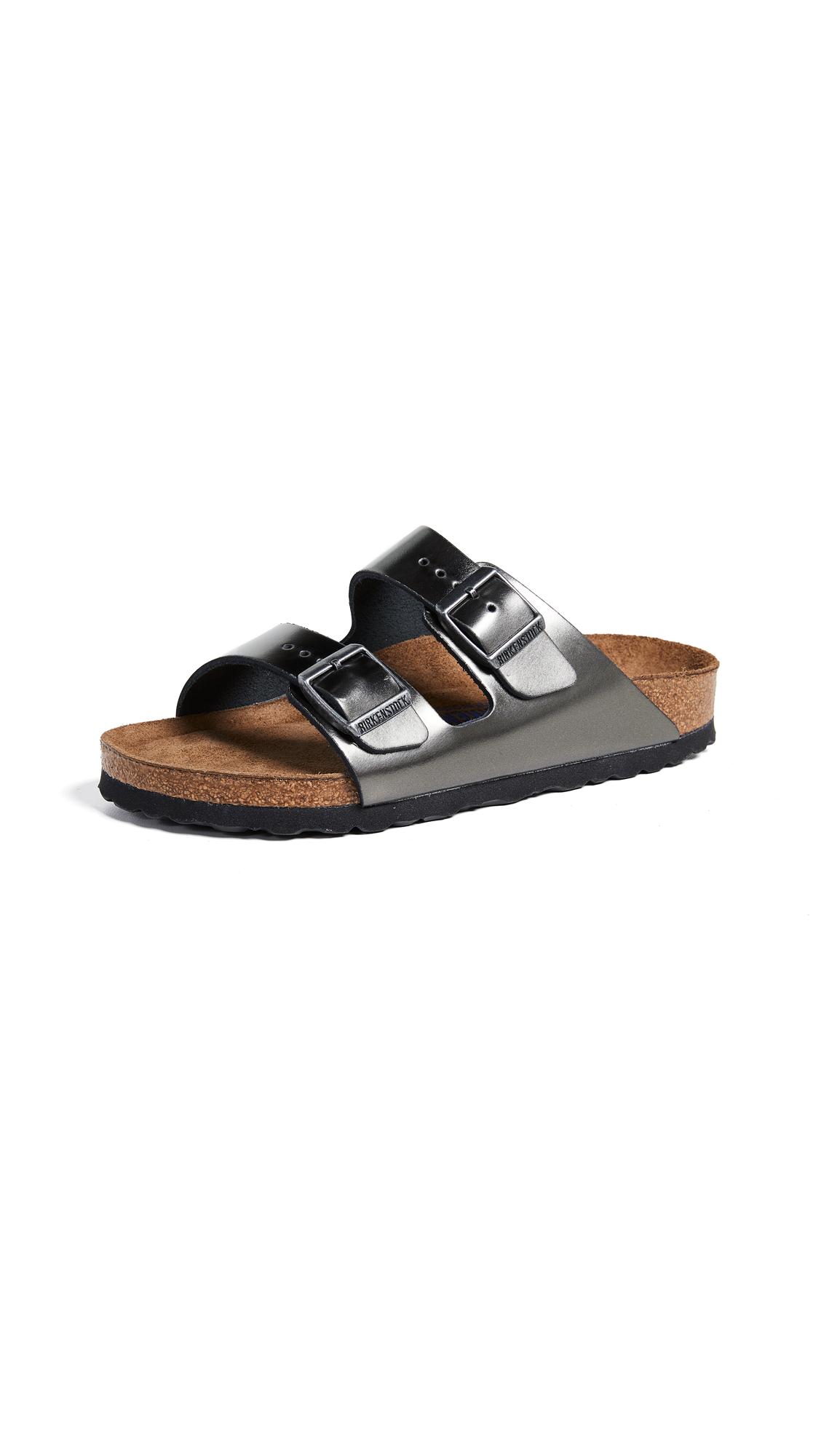 Birkenstock Arizona SFB Sandals - Metallic Anthracite