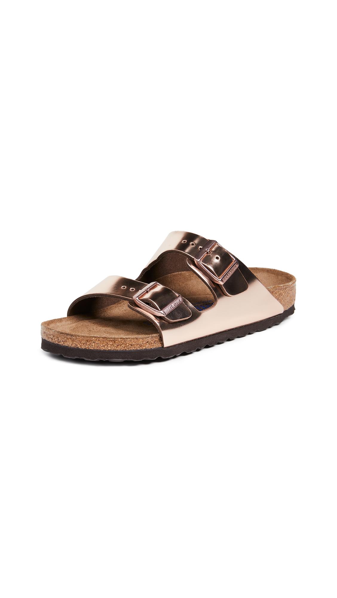 Birkenstock Arizona SFB Sandals - Metallic Copper