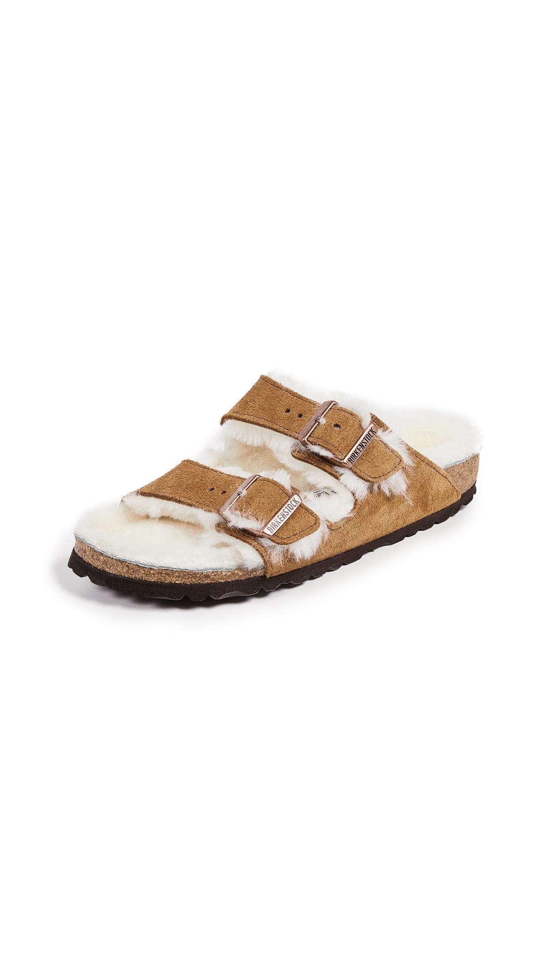Birkenstock Arizona Shearling Sandals - Mink