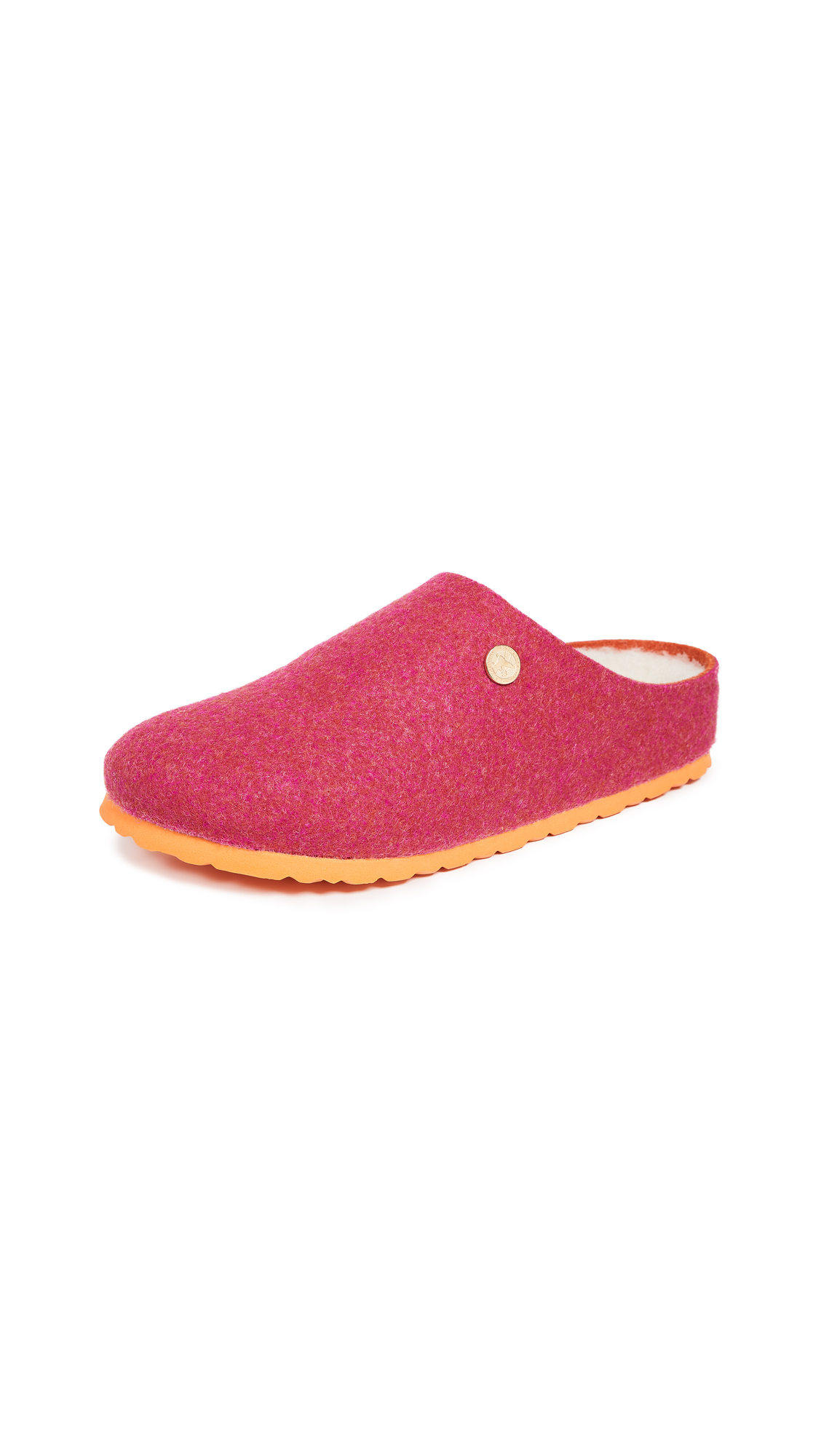 Birkenstock Kaprun Happy Lamb Clogs - Double-Face Fuchsia
