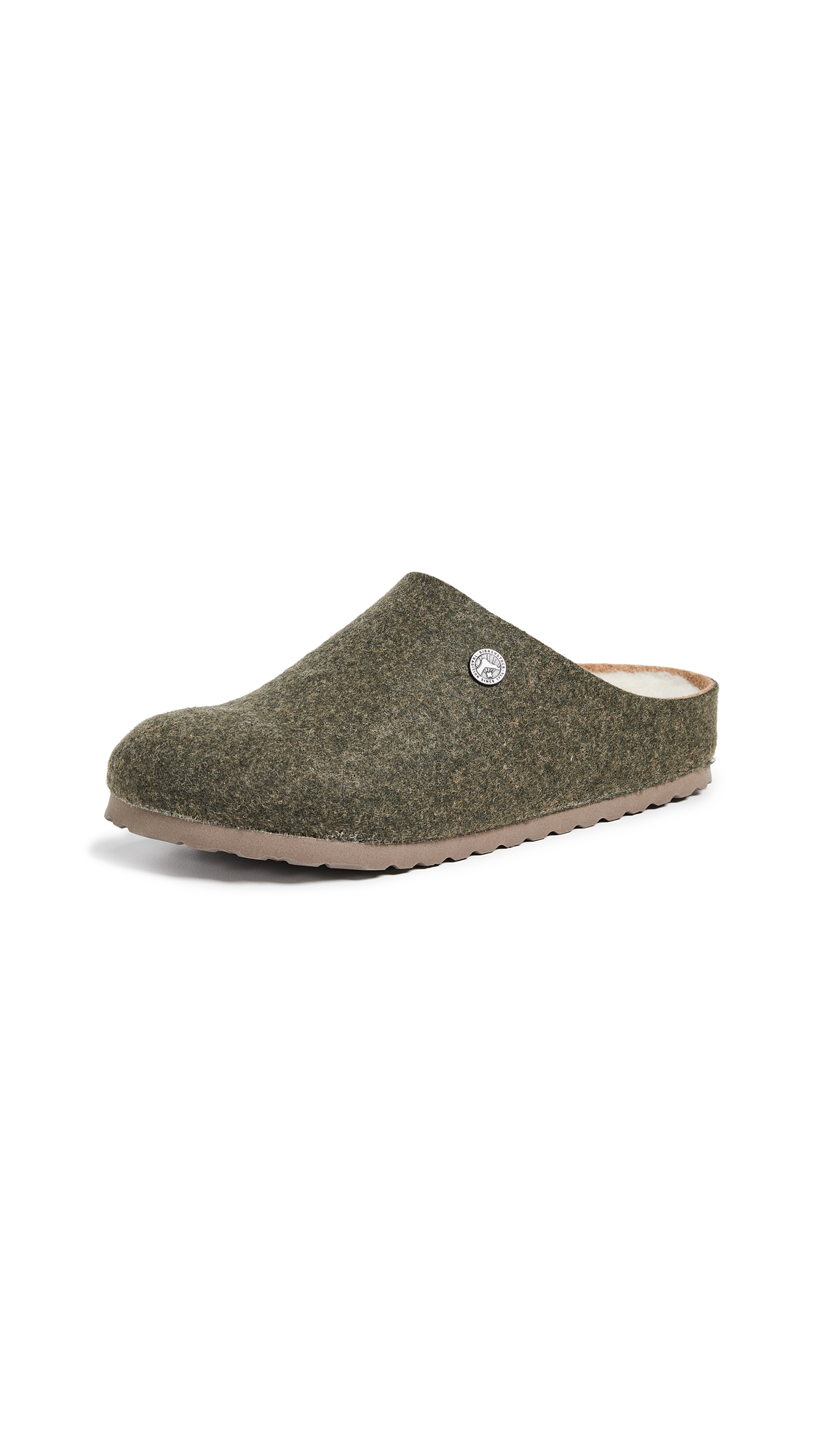 Birkenstock Kaprun Happy Lamb Clogs - Double-Face Khaki