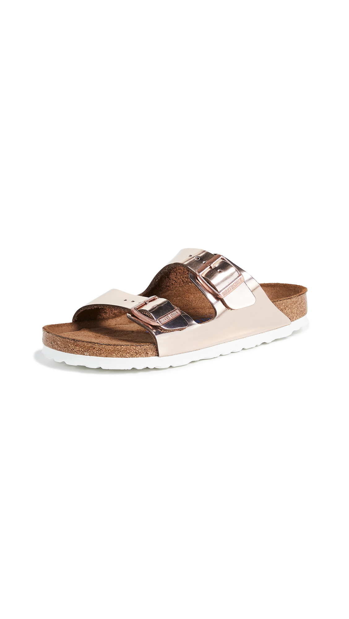Birkenstock Arizona SFB Sandals - Metallic Copper