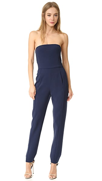 Black Halo Iris Strapless Jumpsuit - Navy
