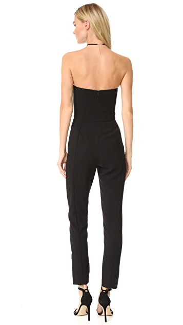 Black Halo Iris Strapless Jumpsuit