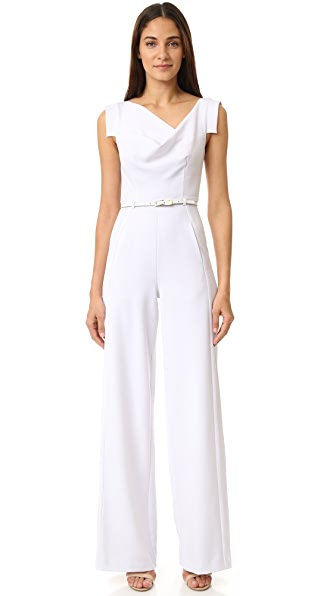 Black Halo Jackie Jumpsuit - White