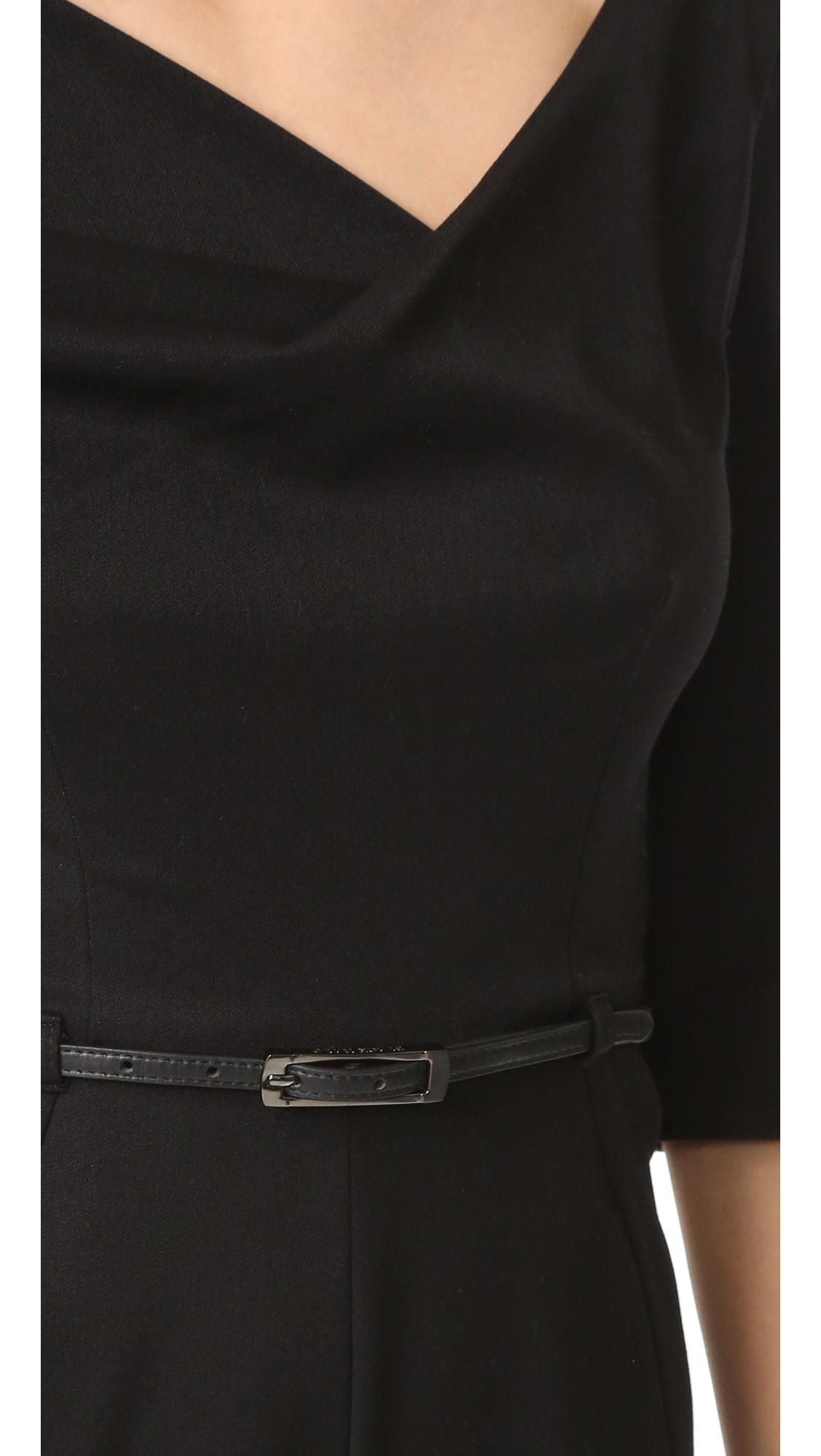 f7c84aec4580 Black Halo 3 4 Sleeve Jackie Jumpsuit