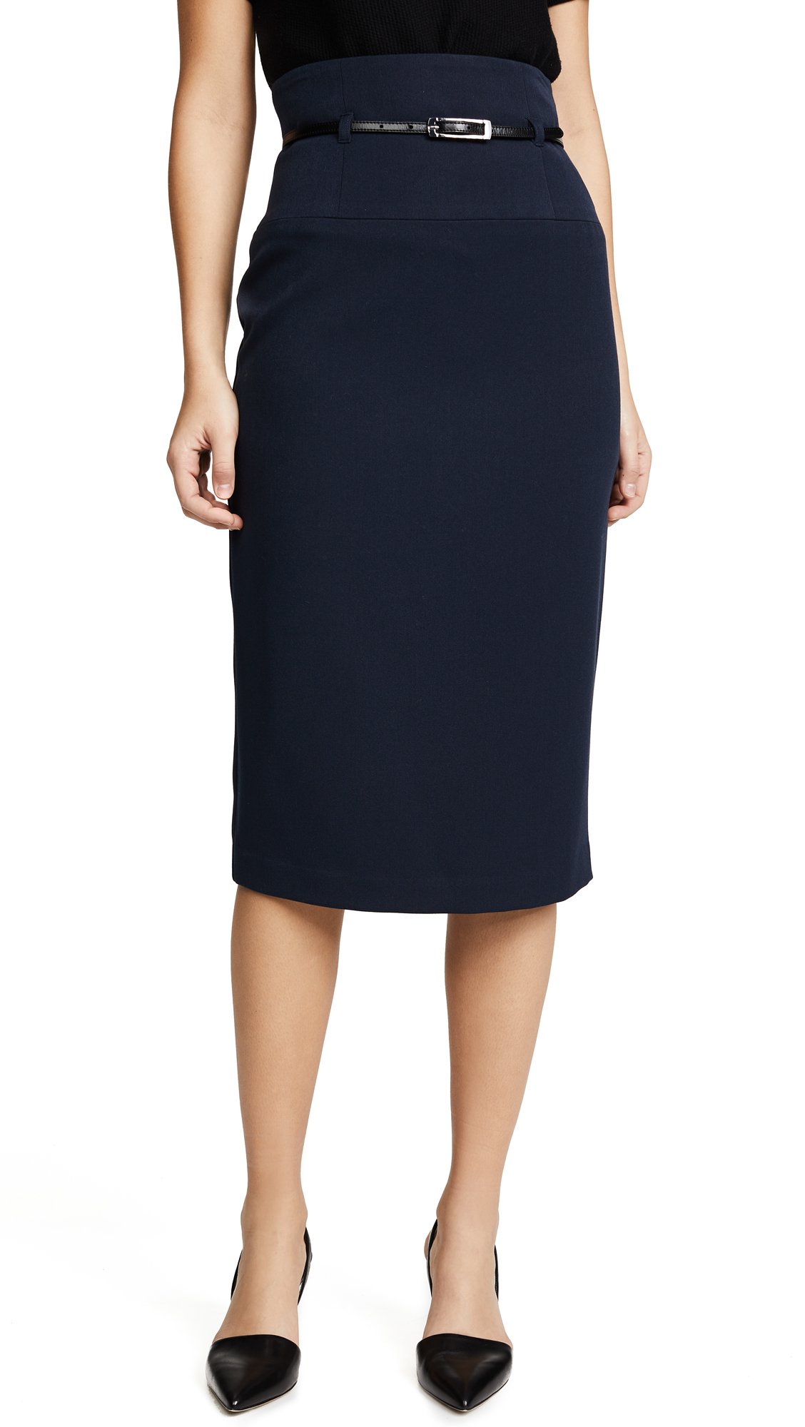 Black Halo High Waisted Pencil Skirt - Eclipse