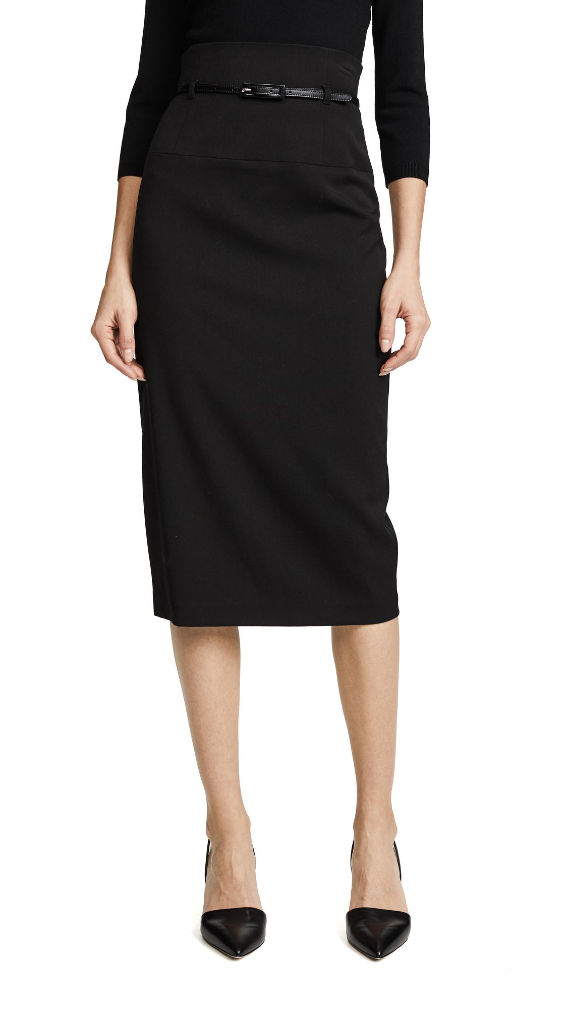 Black Halo High Waisted Pencil Skirt - Black
