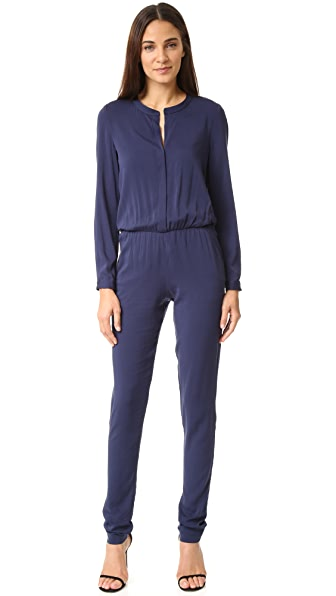Black Halo Bianca Jumpsuit - Pacific Blue