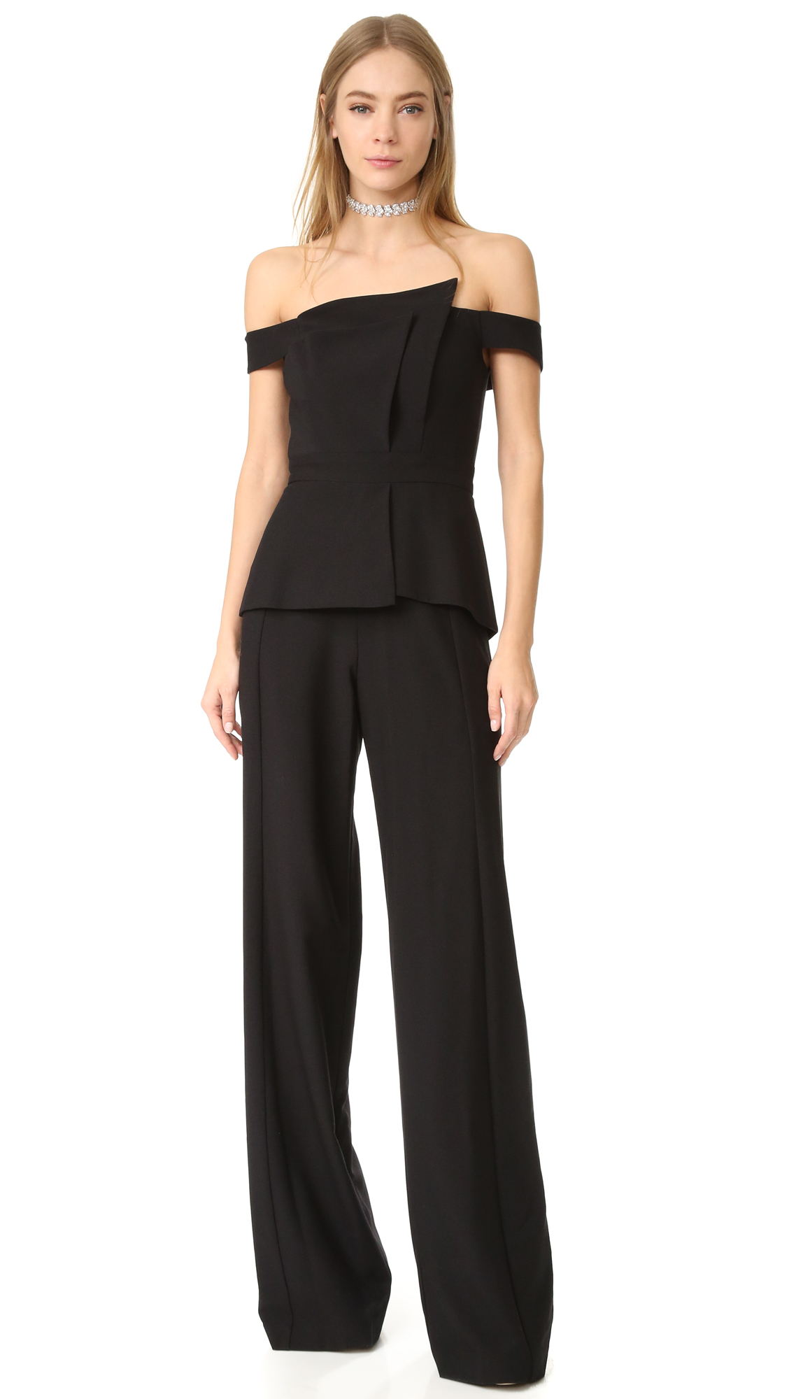 Black Halo La Reina Jumpsuit - Black