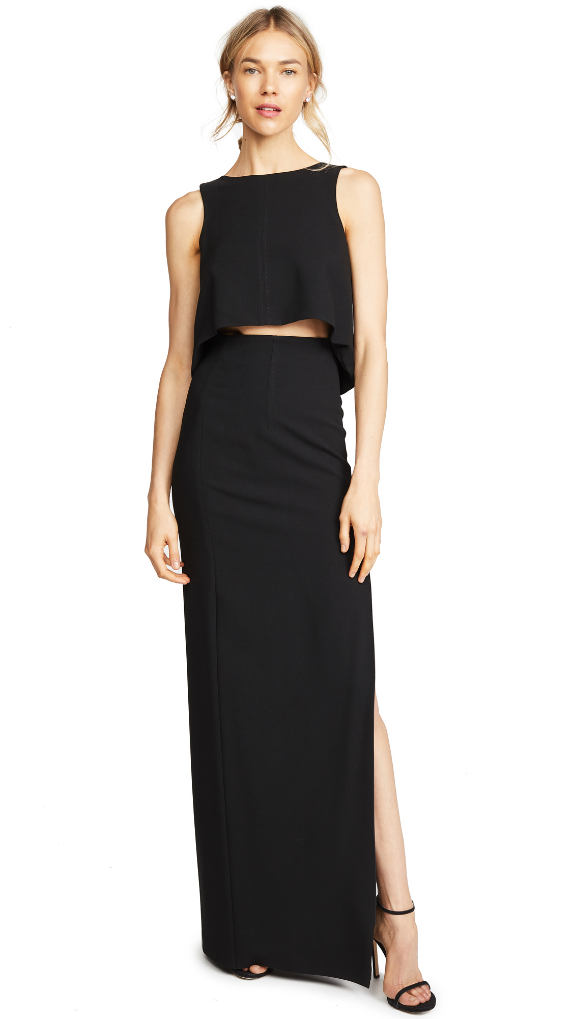 Black Halo Kacie 2 Piece Maxi Dress - Black
