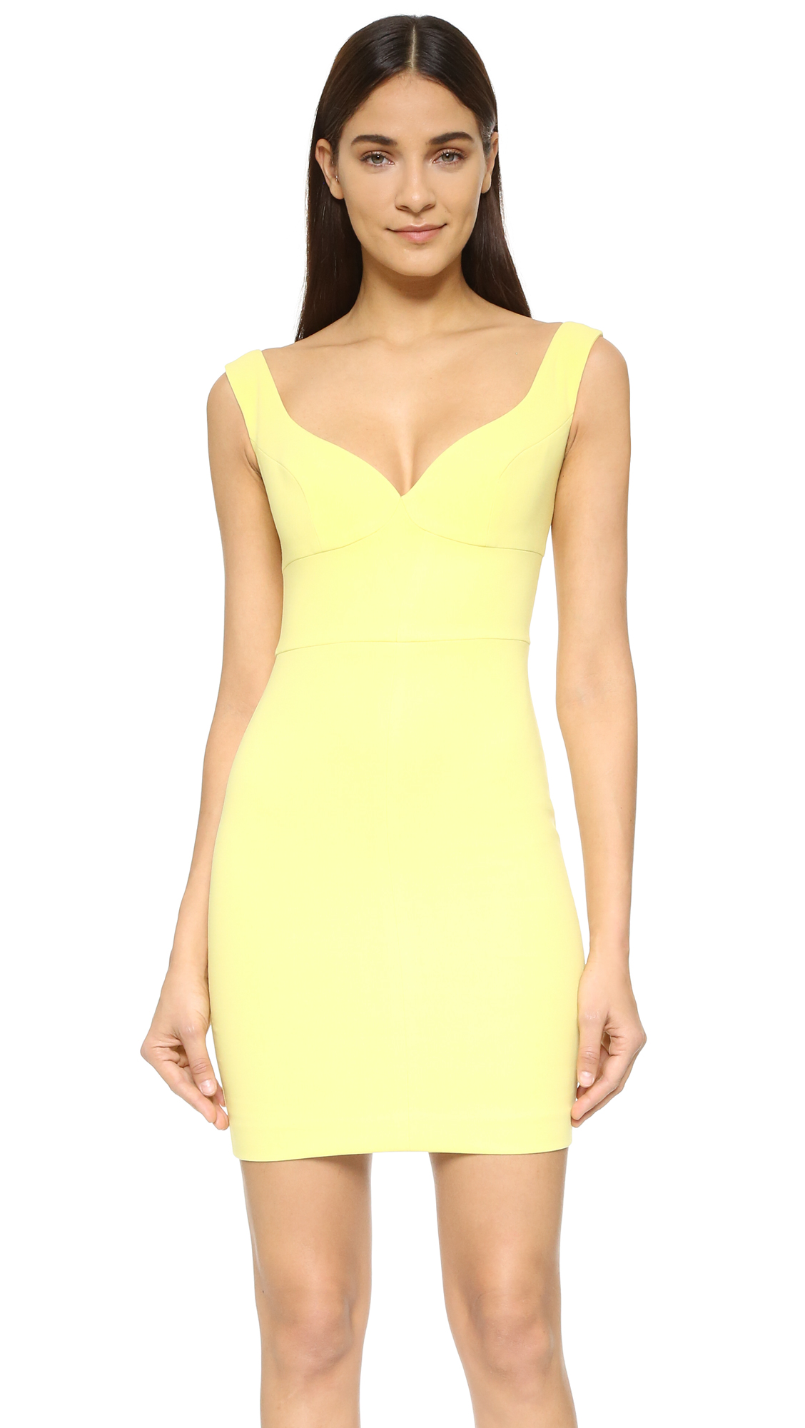 Black and yellow mini dress