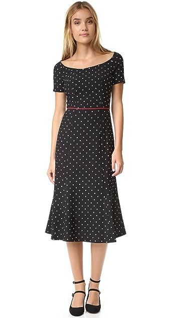 Black Halo Nella Polka Dot Dress