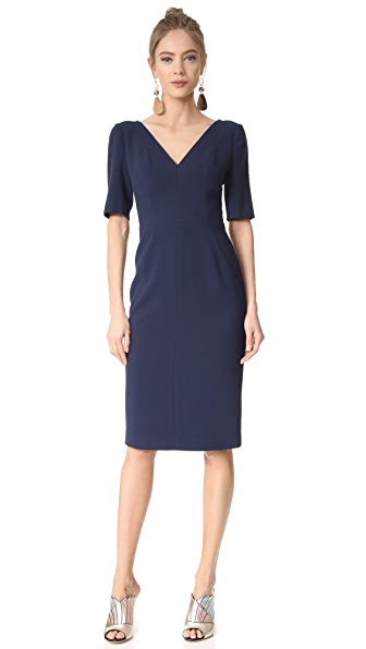Black Halo Jeanette Sheath Dress - Pacific Blue