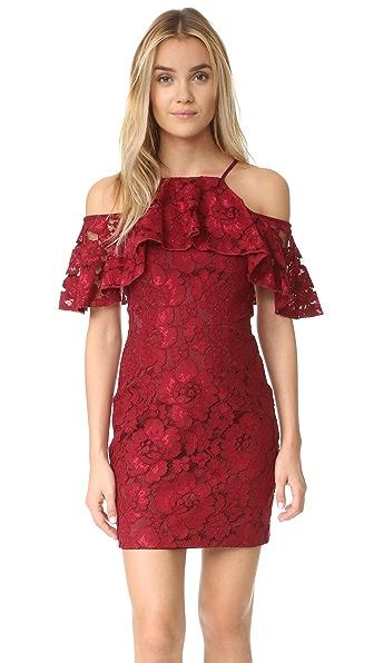 Black Halo Judd Lace Mini Dress