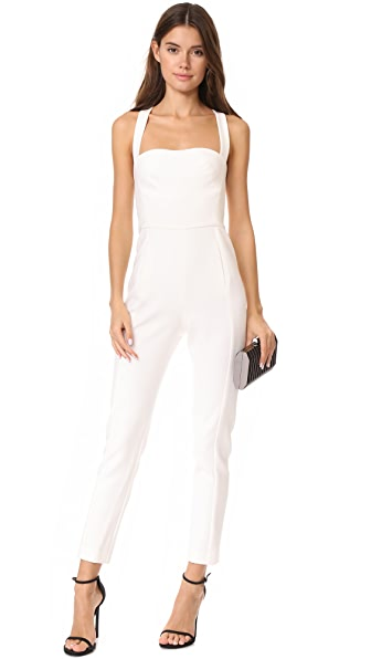 Black Halo Bene Jumpsuit - Porcelain