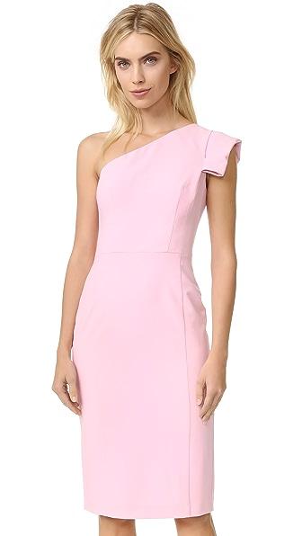 Black Halo Amelie One Shoulder Dress - Misty Pink