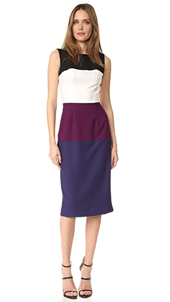 Black Halo Berlin Colorblock Sheath Dress
