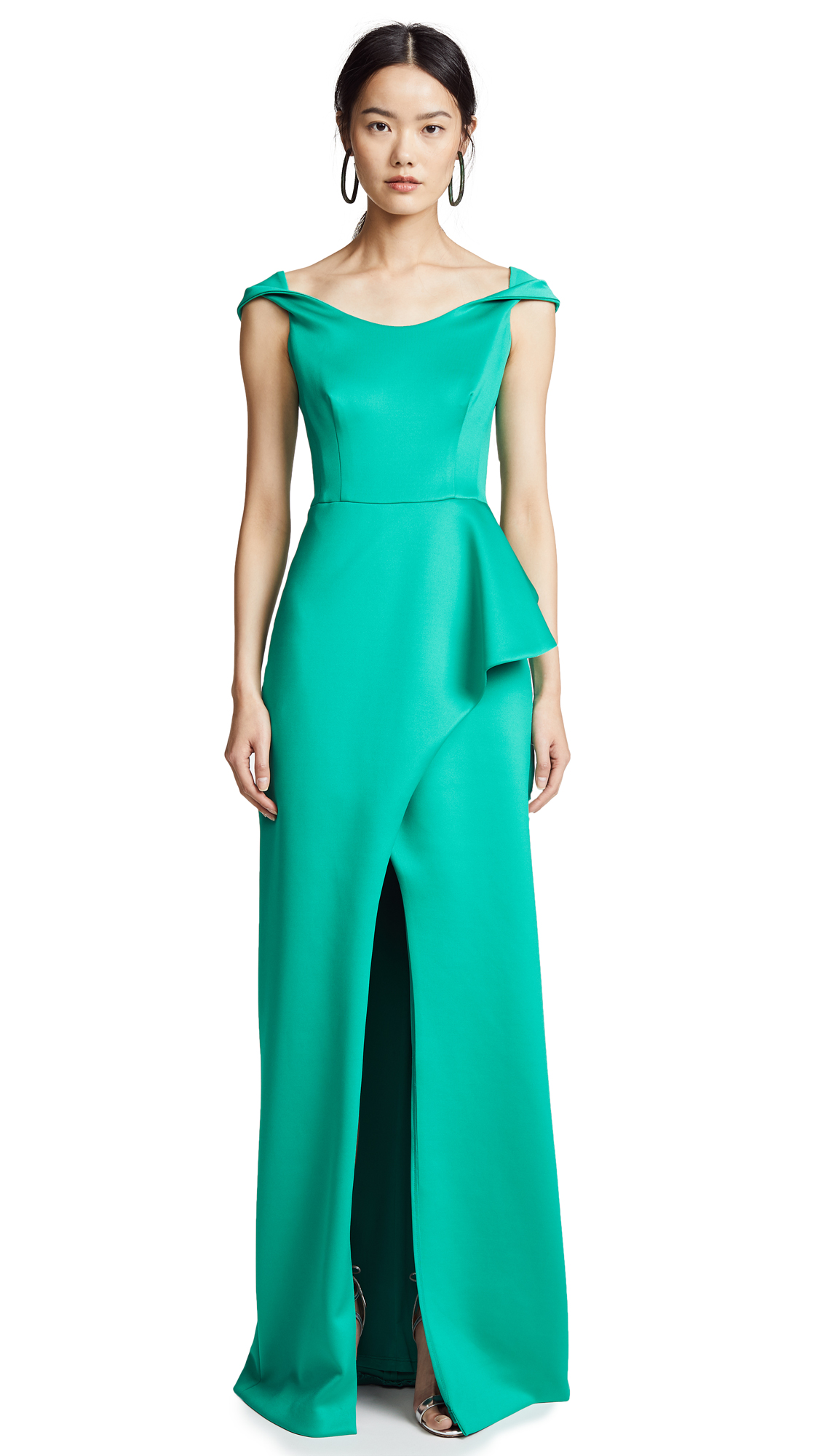 Black Halo Padma Dress - Emerald