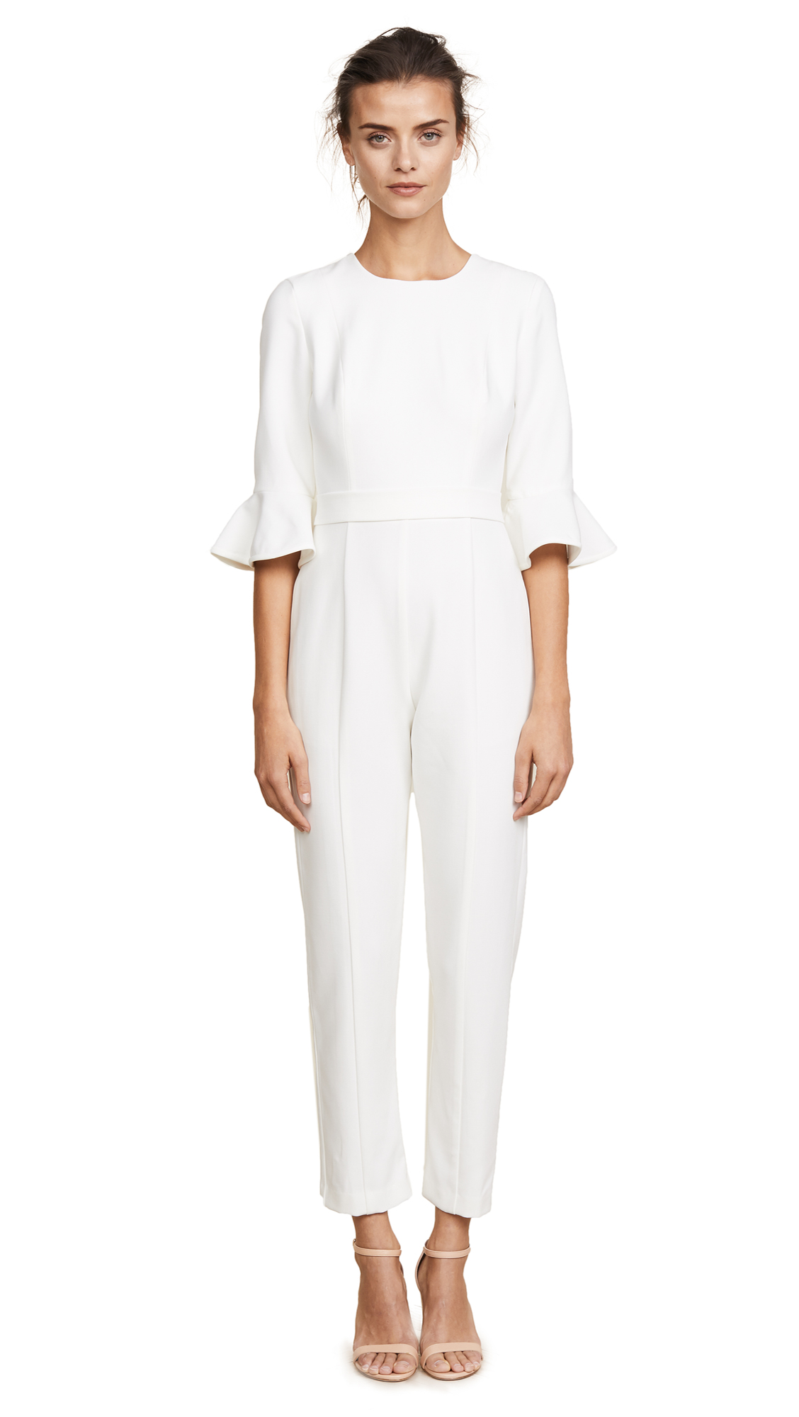 8c1e17cb68da Black Halo Brooklyn Jumpsuit - White - Designer Jumpsuit Shop.com