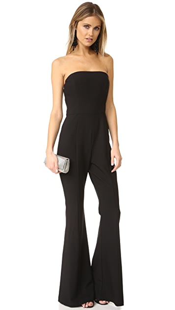 Black Halo Miller Strapless Jumpsuit