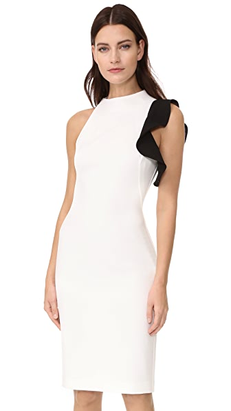 Black Halo Pabla Sheath Dress - White/Black