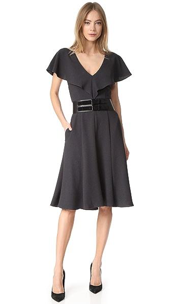Black Halo Cisco Ruffle Dress