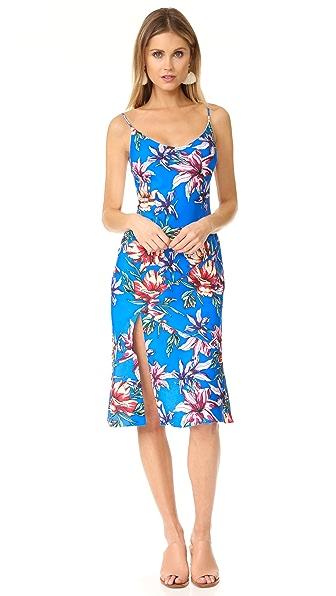 Black Halo Aloma Floral Print Dress