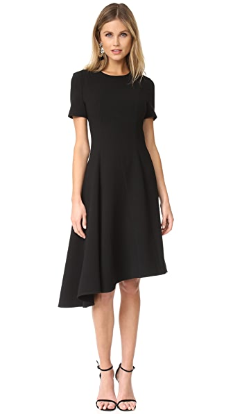 Black Halo Olcay Asymmetrical Dress In Black